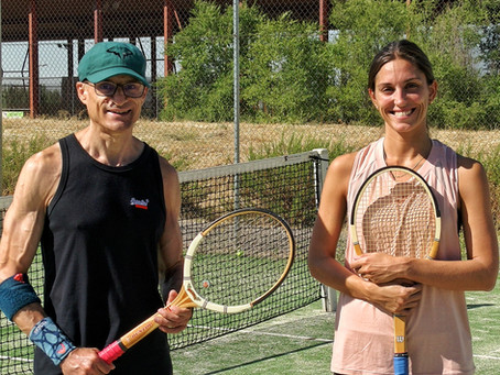 La tenista Leti Costas se apunta al tenis vintage