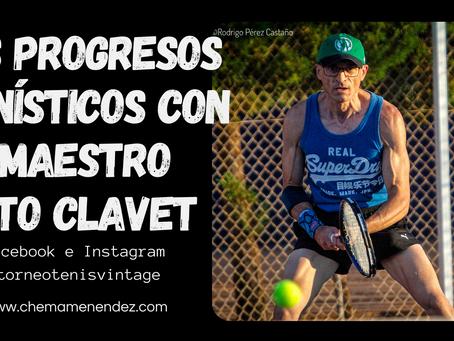 Chema Menéndez mejora su tenis de la mano del gran Pato Clavet