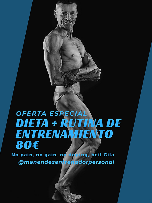Oferta especial dieta + rutina de entrenamiento