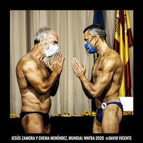 El culturista septuagenario Jesús Zamora bate un récord histórico