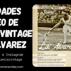 Novedades Torneo Tenis Vintage Lilí Álvarez