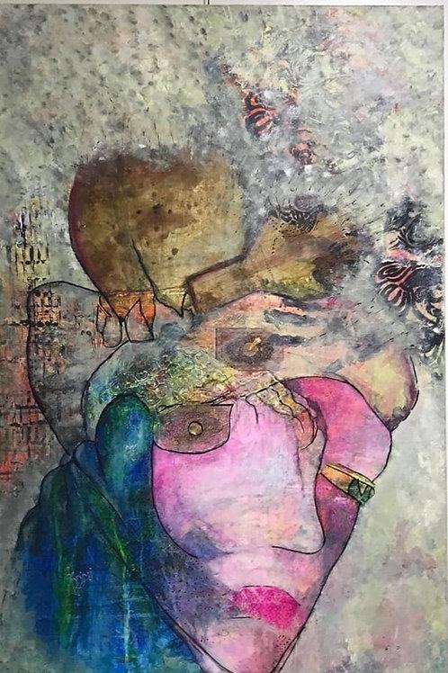 الفنانة زينب اليوسف -لوحة الميراث