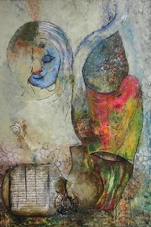لوحة فنية للفنانة زينب اليوسف =لوحة الميراث