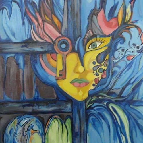 لوحة فنية للفنانة دعاء حمد من فلسطين
