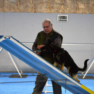 Martin Roidl and Topaz, BH, AD, International Police Work Dog Assn Humain Remains Detection Dog