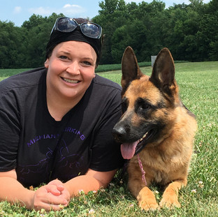 Christine Musselman and Gucci, CGC, GSDCA TC, BH, CD