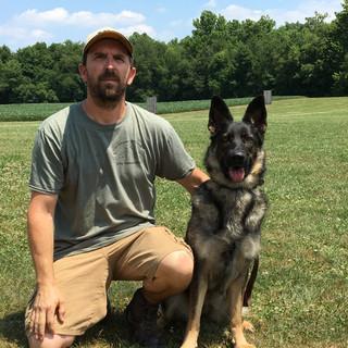 Cory Woodcox, Certified Helper and Athena, BH