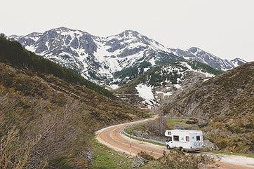 Caravan on the road
