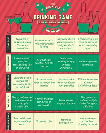 Lucka 4: Näringslivsutskottets Christmas Drinking Game!