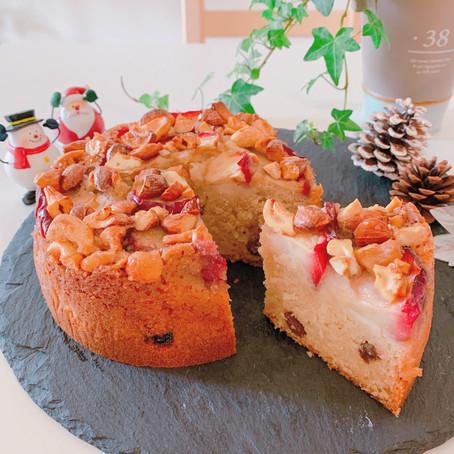 オンライン講座★12月ゴロッとリンゴのケーキ~詳細&お申し込み~