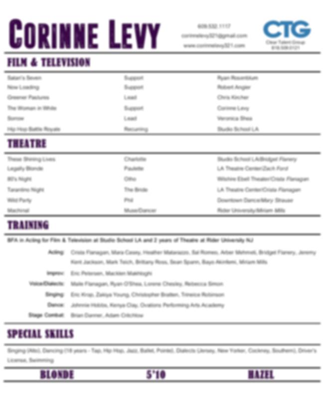 Corinne Levy Resume