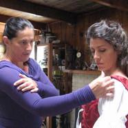 Costumer, Beverly fitting Kristina