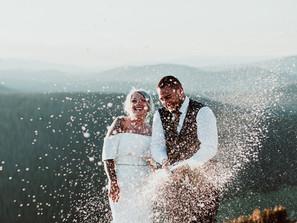 Mountain Top Wedding for Bella Veil Real Bride, Brandi