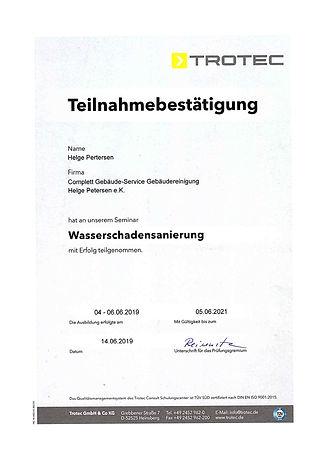 Teilnahme Trotec Zertifikat