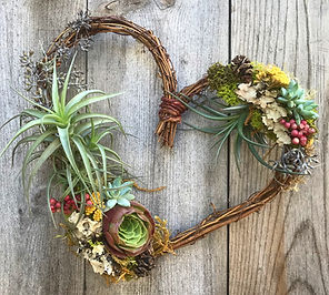 Air plant wreath holiday wreath christmas wreath hanging wreath