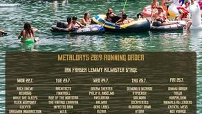 METALDAYS 2019 | RUNNING ORDER