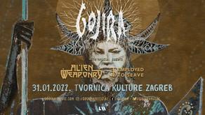 GOJIRA | ALIEN WEAPONRY & EMPLOYED TO SERVE | 31/01/2022| TVORNICA KULTURE, ZAGREB