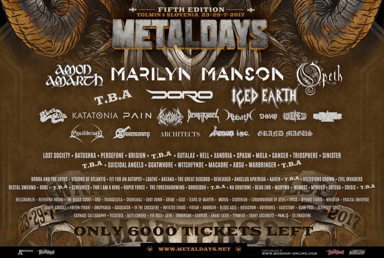 Source: Metaldays (http://www.metaldays.net/)