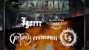 METALDAYS 2018 | NEW BANDS ANNOUNCEMENT| RUNNING ORDER FOR IAN FRASER 'LEMMY' KILMISTER STAG
