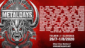 METAlDAYS 2020  | LINE UP ANNOUNCEMENT