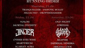 GOATHELL METAL FEST | RUNNING ORDER
