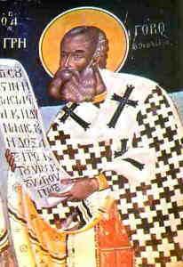 Ikona przedstawiająca św. Grzegorza Wielkiego, autora Liturgii Uprzednio Poświęconych Darów