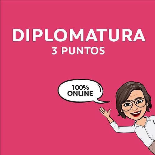 DIPLOMATURA 100% Online 3 PUNTOS