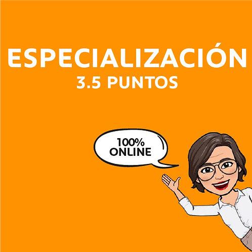 Especializaciones con Puntaje (valor en cuotas)