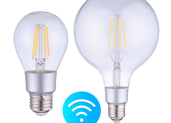 Ampoule Led Smart Wifi transparente à filament droit 6W E27