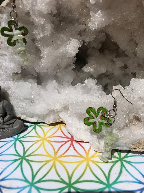 Boucles jade et nature