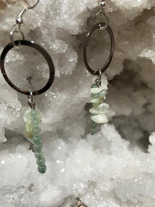 Boucles Amazonite et jade