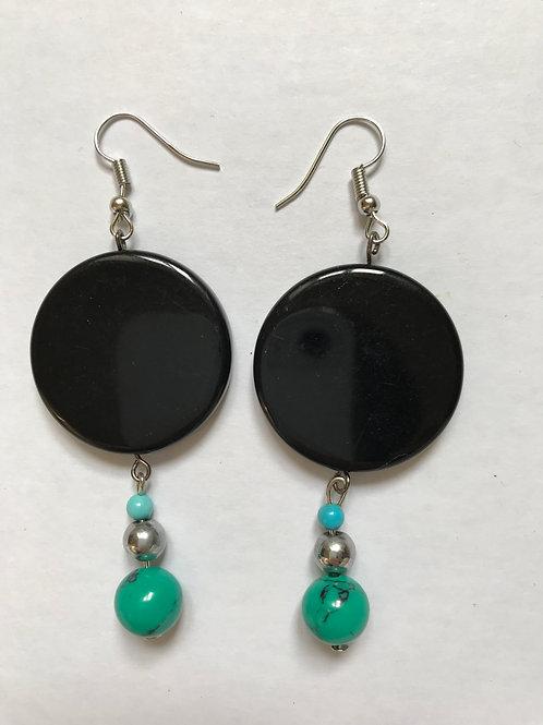 Boucles Turquoise/Hématite