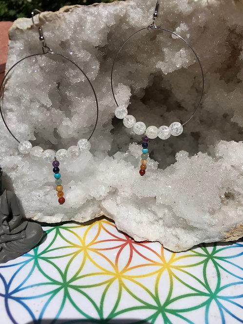 Boucles chakras et cristal de roche