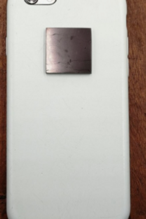pastille carré shungite adhésive pour portable
