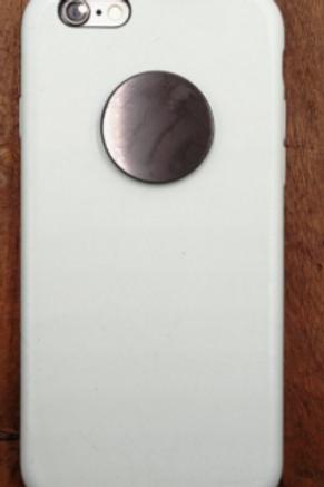 pastille ronde shungite adhésive pour portable
