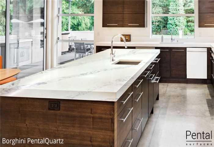 stone countertop and dark cabinets - kitchen remodel ideas