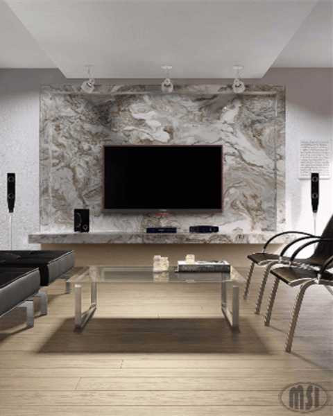interesting stone wall accent