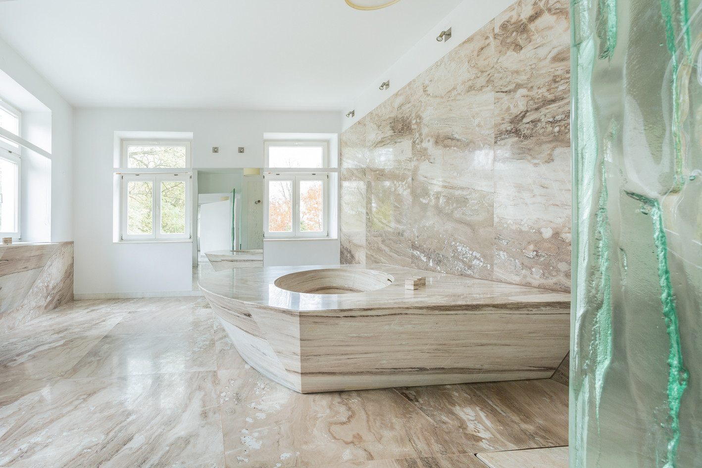 marble bathroom in expensive house