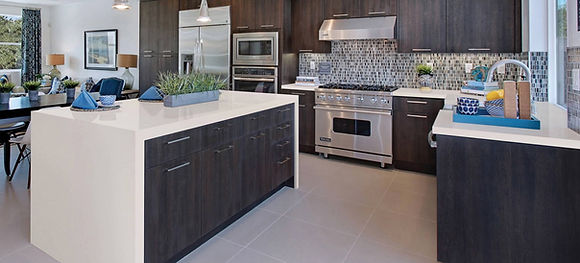 Example of modern kitchen remodel rennmovation with MSI Perla White counters