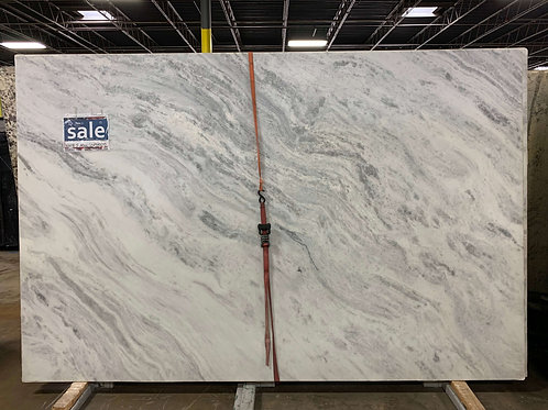 White Shadowed Leather Marble