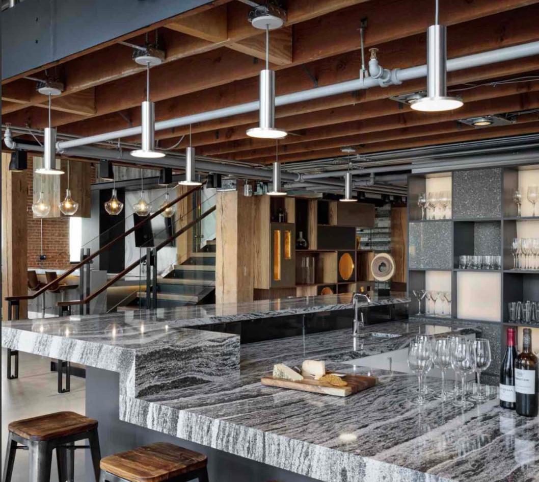 Granite countertops in commercial bar
