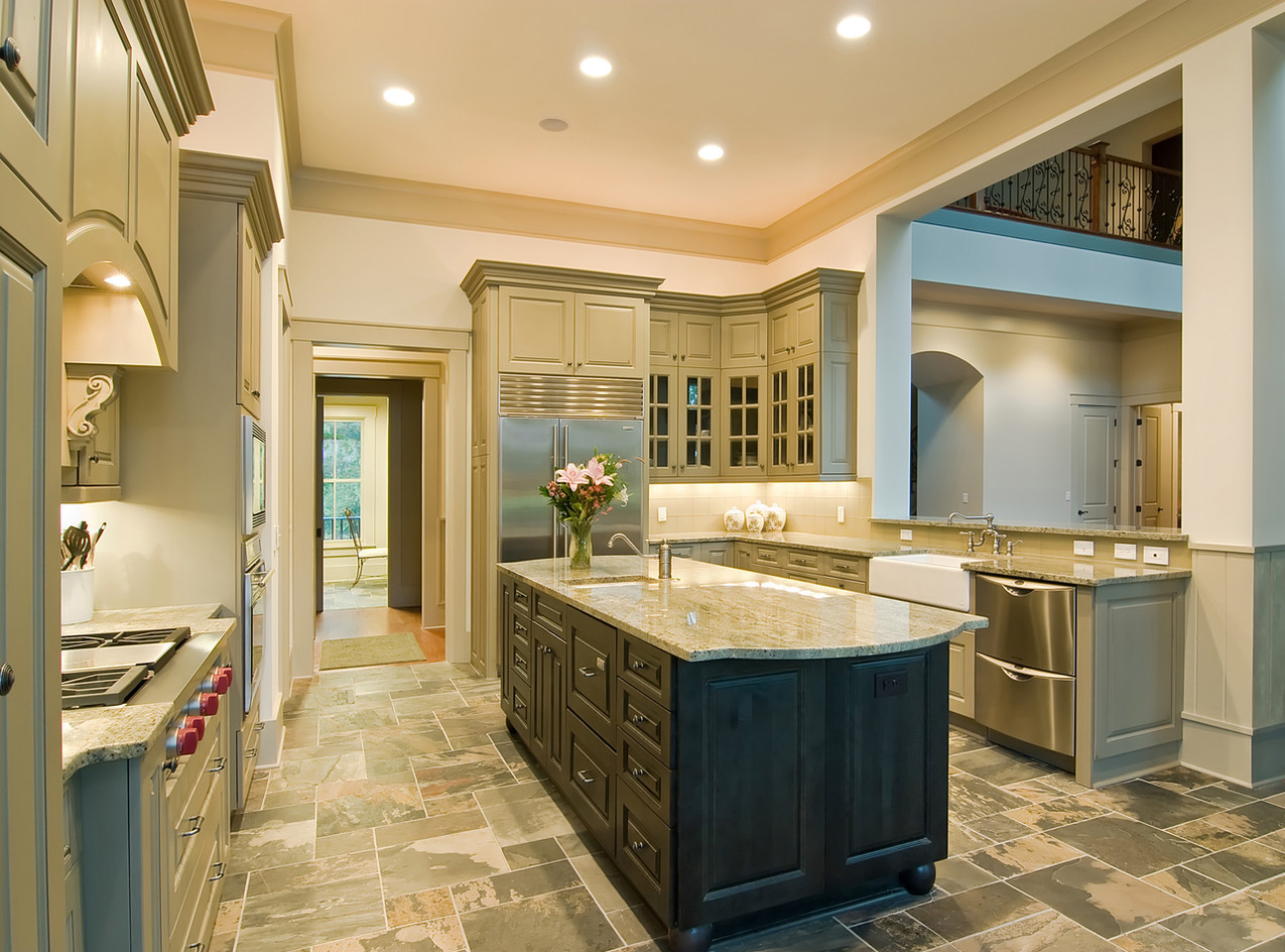 example-of-slate-floor in kitchen