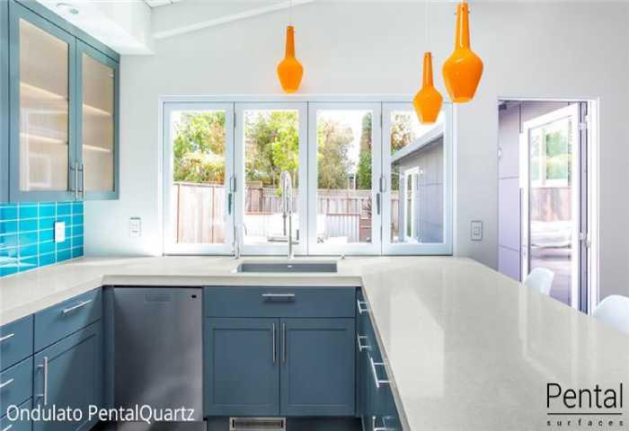 new white kitchen counter