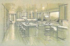 Kitchen design sketch mockup visualization