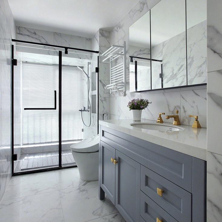 Bathroom remodel - clean white porcelain