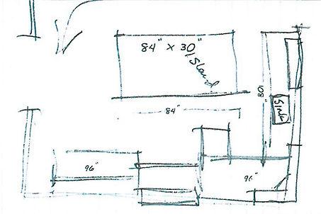 Kichen design sketch