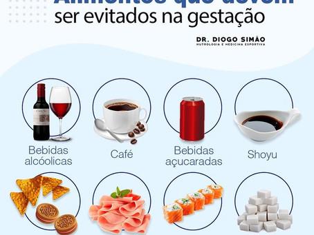 Alimentos que devem ser evitados na gestação.