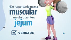 Não há perda de massa muscular durante o jejum