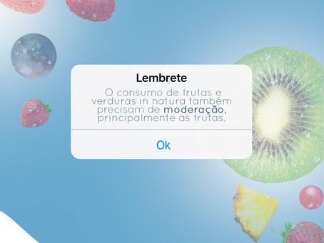Consumo de frutas e verduras.