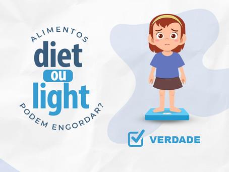 Alimentos Diet ou Light podem engordar?